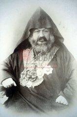 Le patriarche arménien de Constantinople Malakian Ormanian, 1841-1918, qui a fait face au sultan Abdülhamid II et a affronté les conséquences des massacres de 1894-1896 (coll. Bibliothèque Nubar)