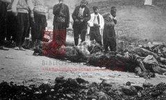 Adana, avril1909: cadavres d'Arméniens massacrés (carte postale ancienne, coll.privée)