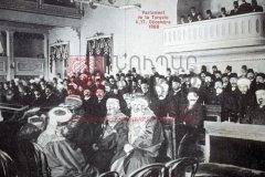 Constantinople, 17décembre 1908: séance inaugurale du Parlement ottoman (coll.Michel Paboudjian).