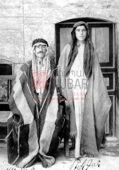 Deux Arméniens retrouvés dans une tribu arabe à Mossoul en 1925. Il s'agit de Hagop Gaderdjian (à gauche), originaire d'Ayntab, et de Melkon, qui ne se souvient pas de son lieu d'origine (coll.Bibliothèque Nubar).